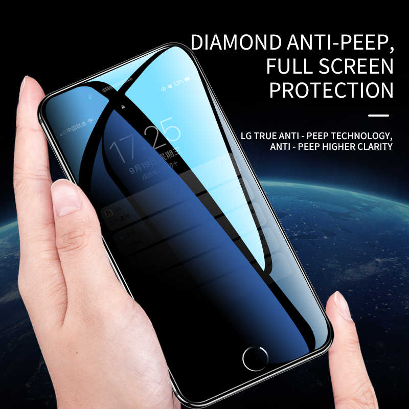 Protective Tempered Glass Peep Prevention For iPhone X Full Screen Protector Glass For iPhone 7 XR XsMAX 6 6s 6sPlus 7Plus 8Plus