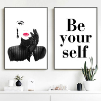 Fashion Sexy Woman Quotes Wall Art Canvas Painting Pop Art Nordic Posters And Prints Wall Pictures For Living Room Salon Decor