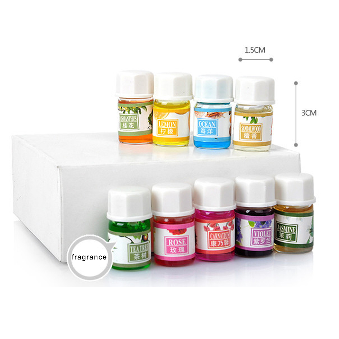 36PCS/Set 3ml 12 Kinds Natural Plants Aromatic Fragrance Essential Oil Water-soluble Flavor Oil Spa Massage Bath Aromatherapy
