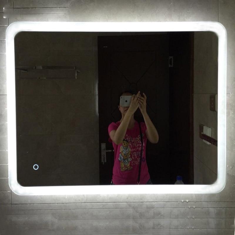 LED Light Mirror Bathroom Mirror Make up Anti fog Waterproof Touch Wall Bathroom Vanity Mirrors Dressing Enjoy Music Bluetooth 2