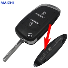 2 BTN Modified Folding Flip Remote Key Shell Case for Peugeot 307 408 308 for Citroen
