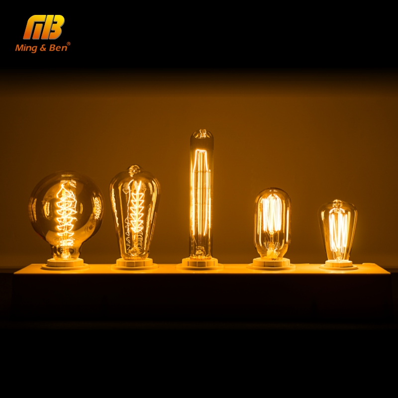 E27 E14 LED Retro Edison Bombilla 60W 40W 25W Novelty Filament Antique Bulb For Restaurant Hotel Party Outdoor Decoration Lamp