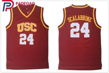 50210c14784 2018 Embroidery Stitched Throwback Basketball Jersey Brian Scalabrine shirt   24 USC Trojans College Vintage Basket