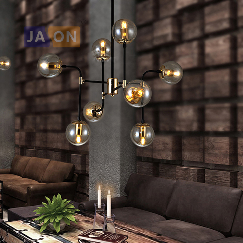 led e27 Nordic Iron Glass designer Magic Bean LED Lamp LED Light Pendant Lights Pendant Lamp