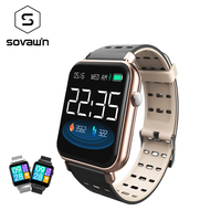 Sovawin Silica Gel Smart Watch Professional Waterproof Blood Pressure Fashion Smart Watch Men Women Heart Rate for IOS / Android