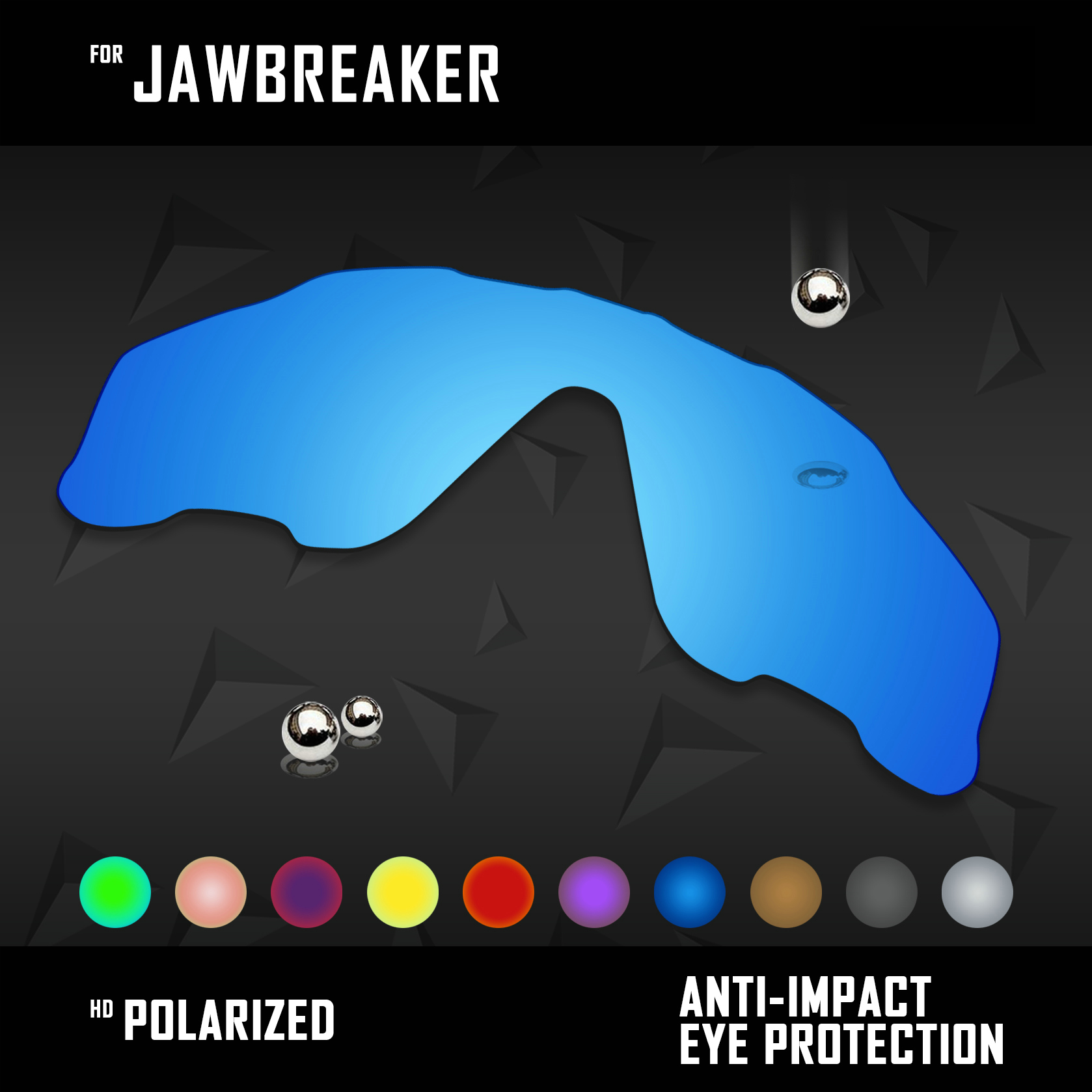 OOWLIT Lenses Replacements For Oakley Jawbreaker Sunglasses Polarized - Multi Colors