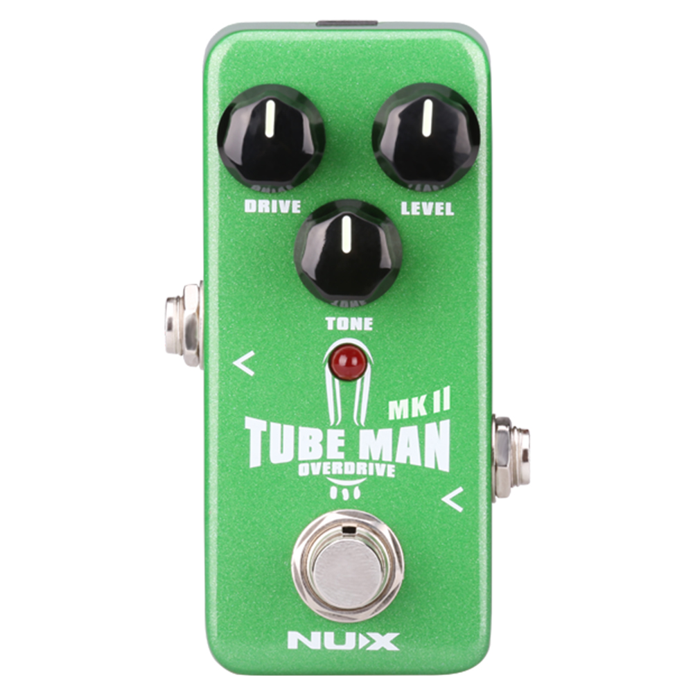 NUX Tube Man MKII Overdrive Guitar Pedal Electric Bass Guitar Accessories FX True BypassNUX Tube Man MKII Overdrive Guitar Pedal Electric Bass Guitar Accessories FX True Bypass