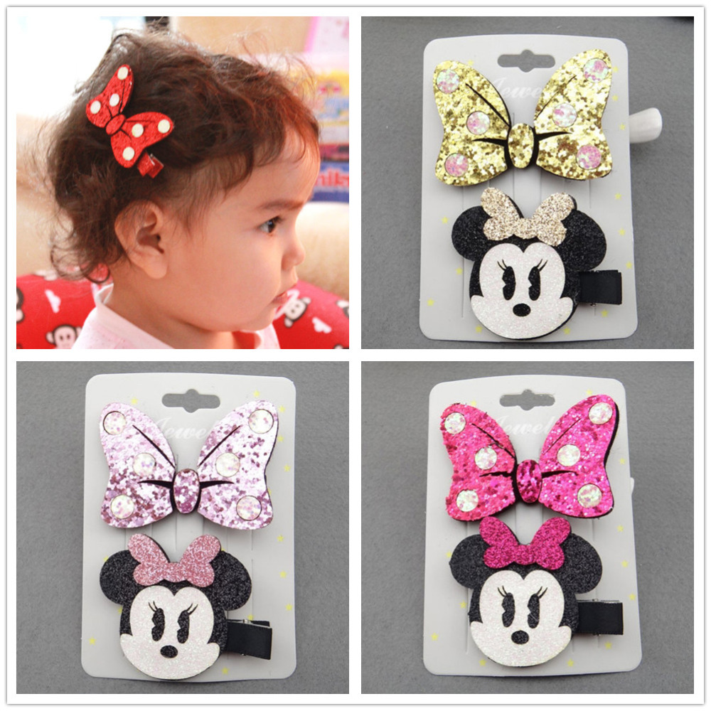 hair accessories clip bows clips barrettes kawaii mickey headdress girls rubber band kids hairclip bow hairpin hairgrip headwear  2pcs 1lot little ponys princess braid wig hair clips hairpin headdress party hairgrips cosplay hair accessories headband