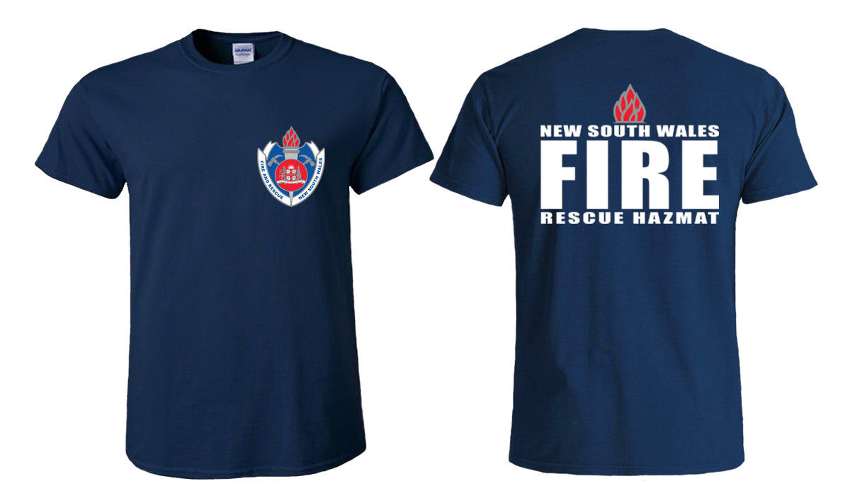 2018 Hot Sale Fashion New South Wales Fire Rescue Hazmat Logo Mens
