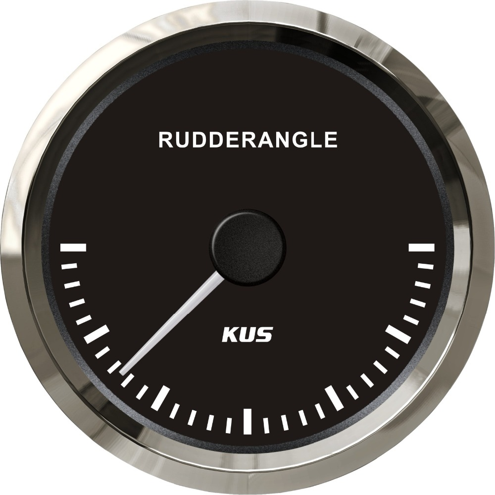 1pc Black Rudder Angle Gauges 85mm Diameter Marine Rudder Angle Meters with Sensor Suitable for Yacht