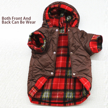 OnnPnnQ Pet Dog Winter Clothes For Wear On Both Sides Warm For Small Large Dogs Coat For French Bulldog Chihuahua Puppy Jackets