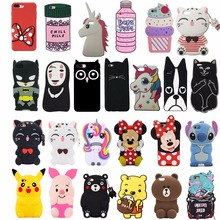 3D Cute Cartoon Fashion Soft Silicone Back Cover Shell For iPhone 5/5S/5C/SE/6/6S/6 plus/6s Plus Phone Cases Fundas Capa Coque цена