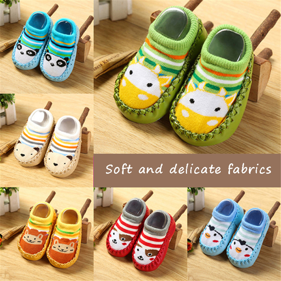 1 Pairs Baby Socks Cute Children Socks Anti Slip Cotton Baby Socks Girls Newborn Boys Calcetines Autumn Nice Babe Sock 70Z0005