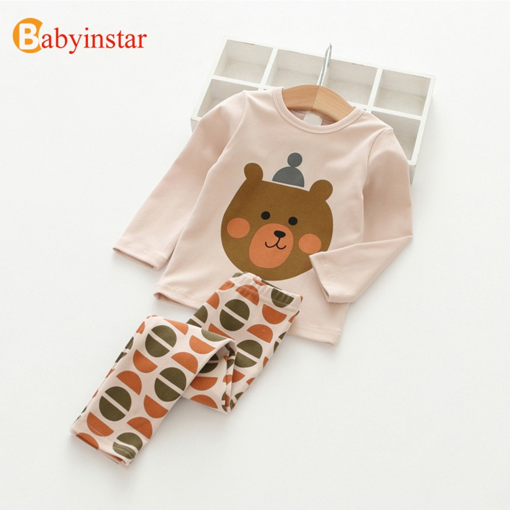 e2035212b46 ✅Babyinstar Girls Tracksuit Cartoon Pattern Tops + Pants Two-pieces ...