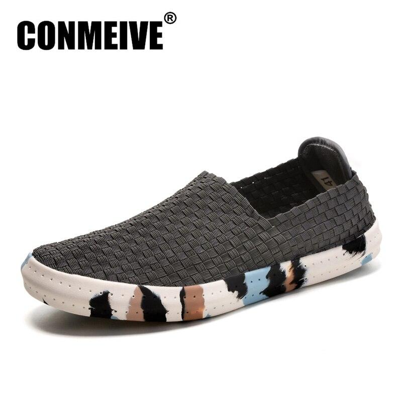 En Moda Ayakkabı Erkekler Süperstar Tenis Zapatos Mujer Nefes Kayma-Rahat Düz Erkek Ayakkabı Yaz Kauçuk Loafer'lar Gerçek