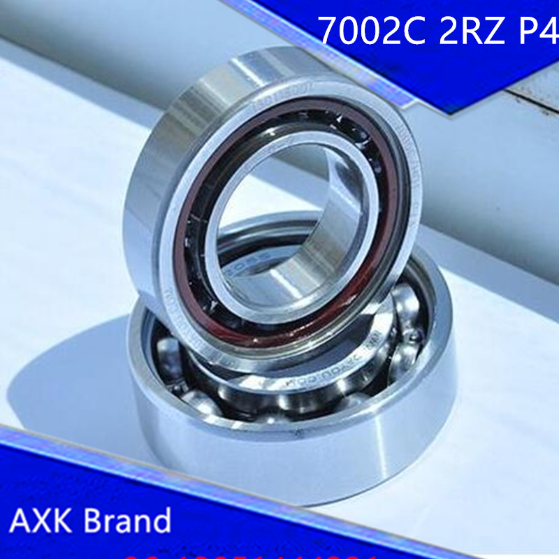 1pcs 7002 7002C 2RZ P4 15x32x9 AXK Sealed Angular Contact Bearings Speed Spindle Bearings CNC ABEC-7 1pcs 71901 71901cd p4 7901 12x24x6 mochu thin walled miniature angular contact bearings speed spindle bearings cnc abec 7