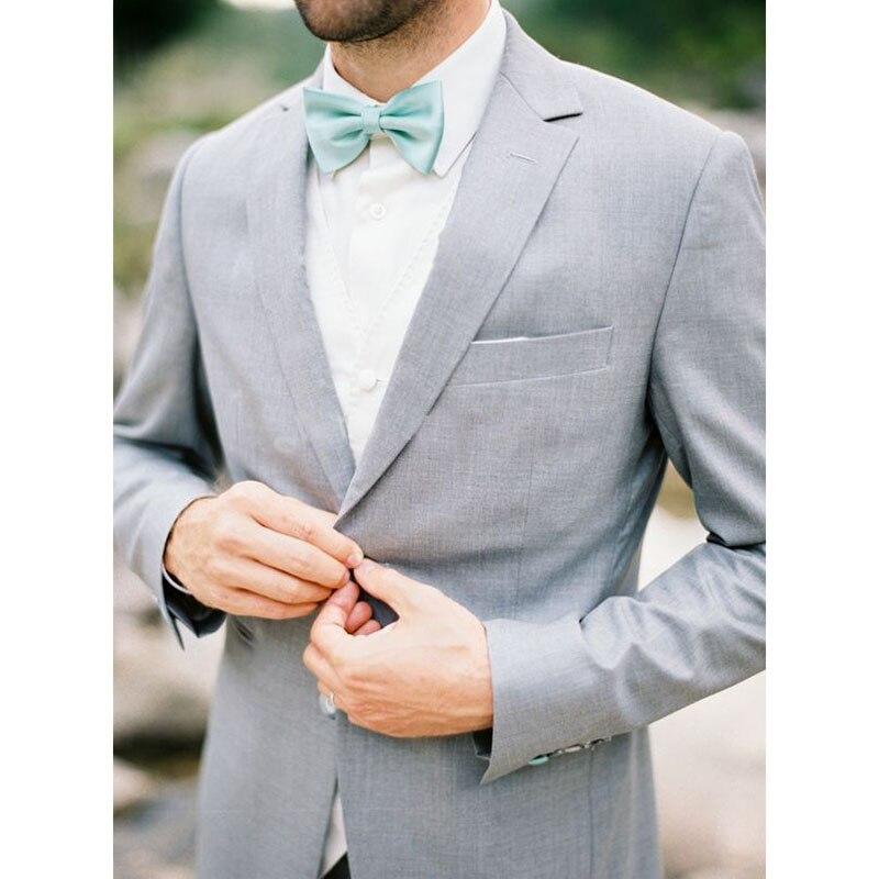 2017 Wedding font b Suits b font For font b Men b font Light Gray costume