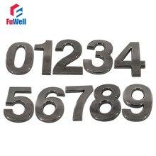 Цифровой номер дома 100 мм высота 0/1/2/3/4/5/6/7/8/9# Дополнительный ABS Пластик черный Цвет дома номер двери отеля