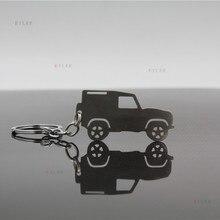 Брелок из нержавеющей стали, подходит для Land Rover Defender, брелок, сумка, подвеска