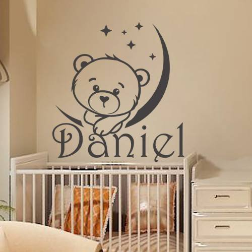 personalized name wall decal boy sticker kids nursery vinyl decal