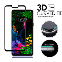 купить 3D Full Cover Tempered Glass Screen Protector for LG G8 ThinQ Anti-Explosion 9H Glass Film for LG V50 ThinQ Full Body Film дешево