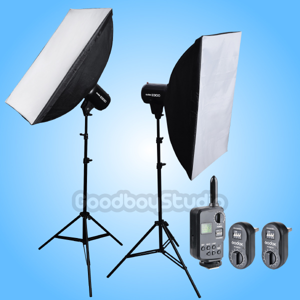 Godox E300 X2 600W Studio Flash Strobe Light + 60x90cm Softbox + FT-16 Kit 230V godox es 600p 600w gn68 xenergizer wireless portable flash studio light lighting kit