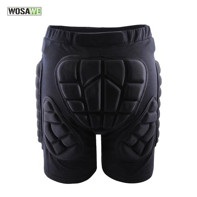 WOSAWE Black Short Protective Hip Butt Pad Ski Skate Snowboard skating skiing protection drop resistance roller padded Shorts
