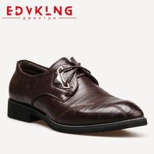 39-44 мужские туфли дерби edvklng бренд классический деловой с острым носком джентльмен PU мужские кожаные туфли # ZY99102RU