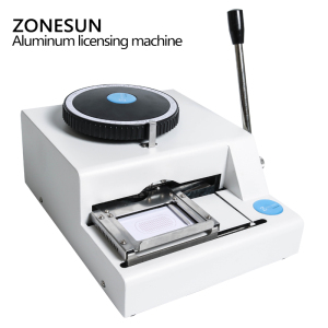 Image 3 - ZONESUN 52 Character Manual Dog Tag Machine Metal Embosser ID Card Stamping Machine Steel Embossing Machine Military Steel 99%