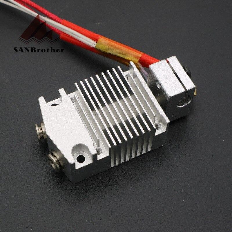 Extrudeuse cyclope et chimère 2 en 1 sur 2 couleurs Hotend Bowden avec extrudeuse Titan/Bulldog pour imprimante 3D I3 12 V/24 V.
