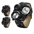 2016 Мода Dual Time Zome мужские Часы Марки Shiweibao Русский Военный Мужские Часы Кварцевые Кожаный Ремешок Спортивные Часы