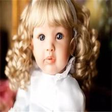 22 inch 55 cm   reborn Silicone dolls, lifelike doll reborn babies toys Beautiful blonde hair girl