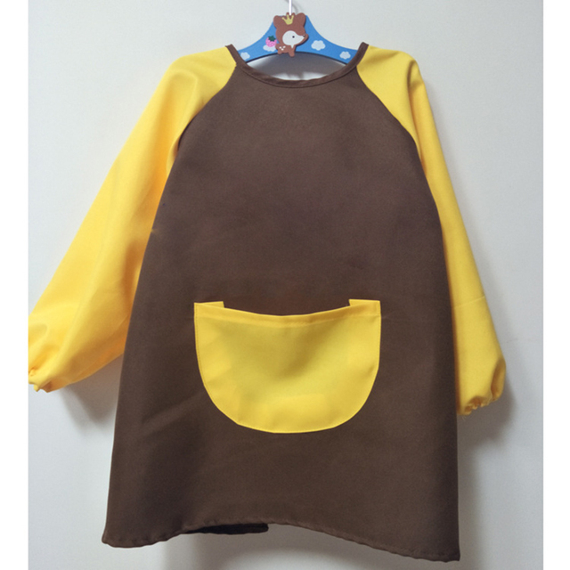966b29f42cb Children s Drawing Clothing Long-sleeved Overalls Anti-clothing  Kindergarten Clothes Children s Dinner Clothes Apron