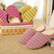 Cotton Shoes Indoor-Slipper Soft-Bottom Slip-On Winter Women Slides Bedroom-House Woman