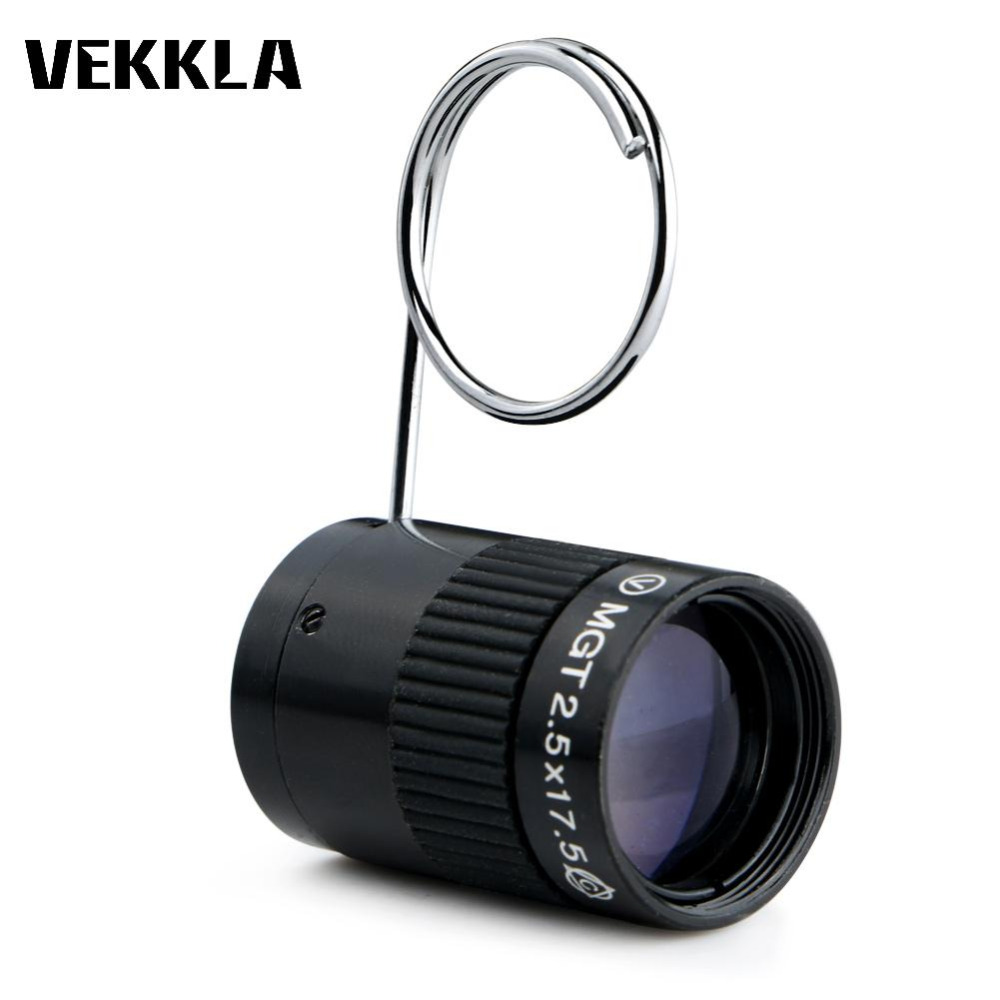 Subminiature Mini Monocular Telescope 2.5X17.5HD High Power Pocket Key Chain Telescope for Outdoor Hiking Camping Sports 10 30x50 outdoor hunting optics telescope pocket mini zoom monocular high quality pocket telescope with tripod