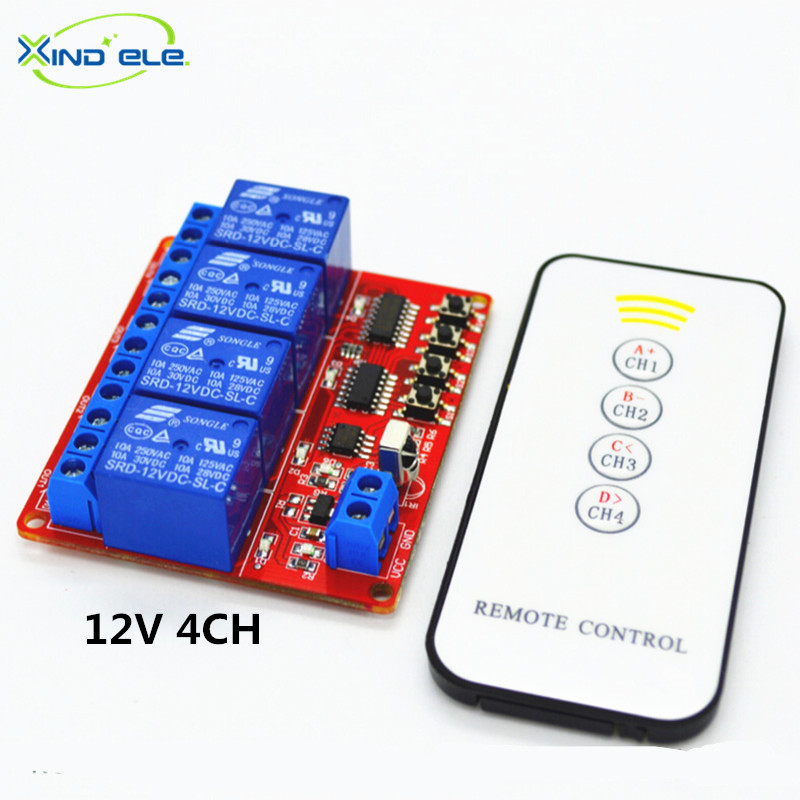 Universal DC 12V 10A Relay Wireless Remote Control Switch Transmitter + Receiver Light Switch + DC Female Connector Wire cafissimo espresso kraftig кофе в капсулах 10 шт