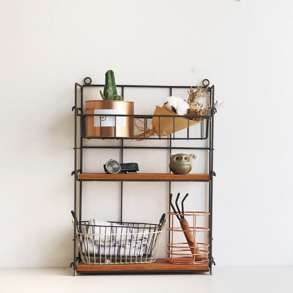 A1 Wrought Iron Kitchen Rack Can Be Changed And Adjusted Three-tier Desktop Debris Seasoning Storage Rack Wx8271635