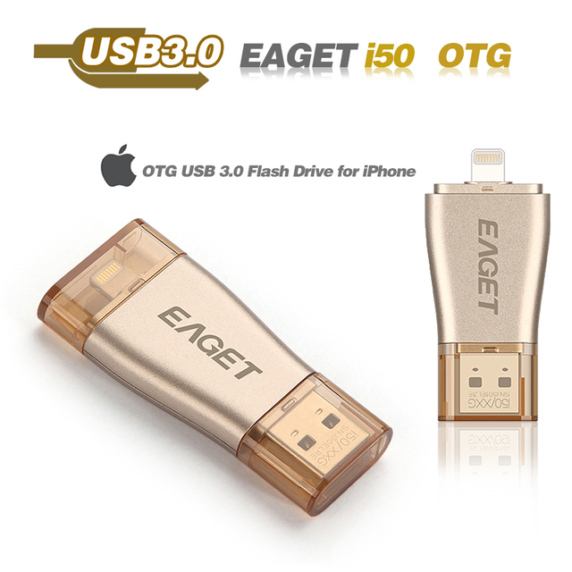 Usb flash drive 3.0 eaget i50 pasar h2test otg teléfono inteligente para iphone 32 gb pendrive usb 3.0 pen almacenamiento driveexternal