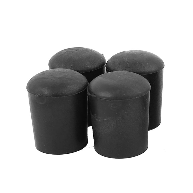 7mm Inner Dia Rubber Table Chair Leg Foot Covers Floor Protector Black 50pcs