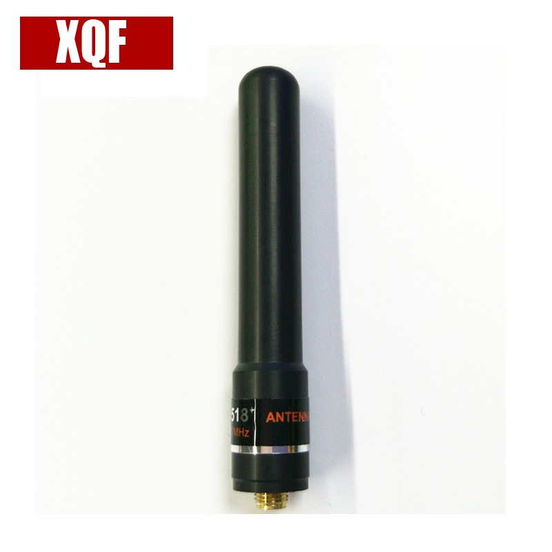 XQF HH-S518+ UV 145/435MHz High Gain Antenna SMA-F Short Hand For Baofeng UV-5R Two Way Radio