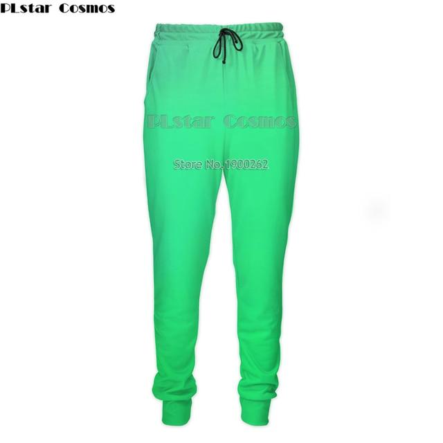 6a3440b368cb Kosmos PLstar Colorf czerwony zielony różowy czarny yello3D Moda Mężczyźni  WomenPants 3D Print Śmieszne Spodnie Dresowe