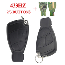 Jingyuqin 2/3 Buttons Remote Smart Car Key for Mercedes Benz B C E ML S CLK CL 433MHZ + Chip Circuit Board FOB Styling