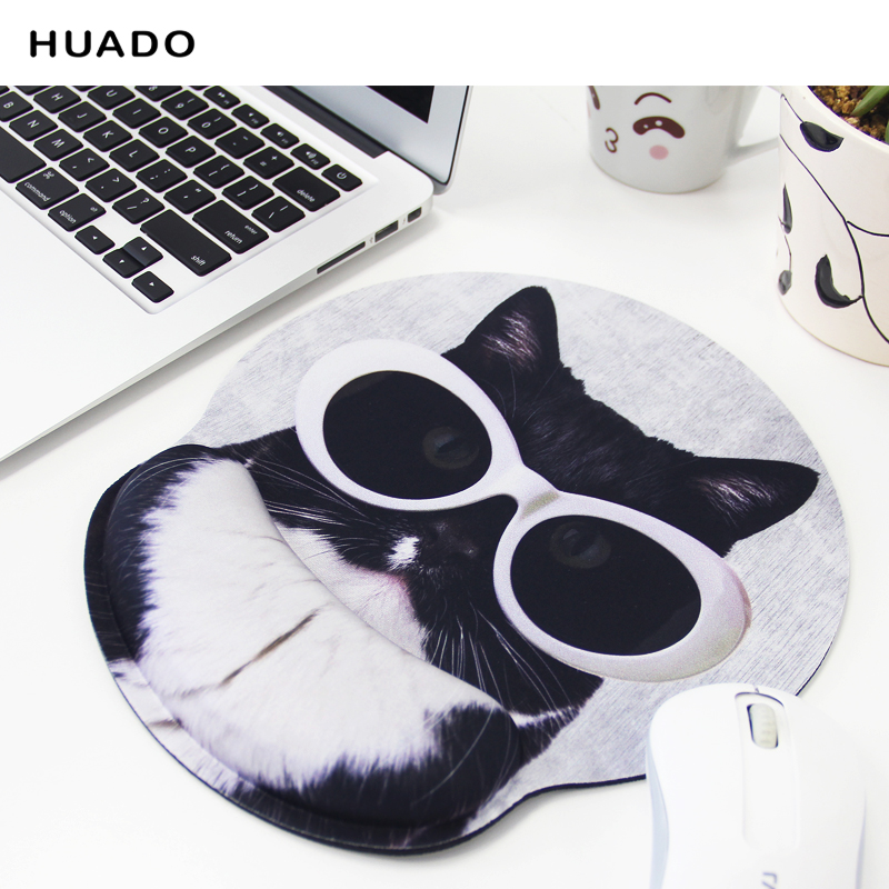 лучшая цена wrist holder mouse pad Soft memory foam Ergonomic mouse mat with gel wrist support Lycra cloth surface speed verison mousepad