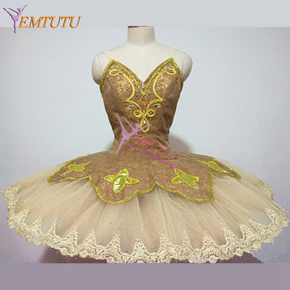 9b807db8a Adult Gold Fairy Professional Ballet Tutus Paquita Raymonda Ballet Tutu  Women Girls Classical Ballet Stage Costume Tutu Skirt