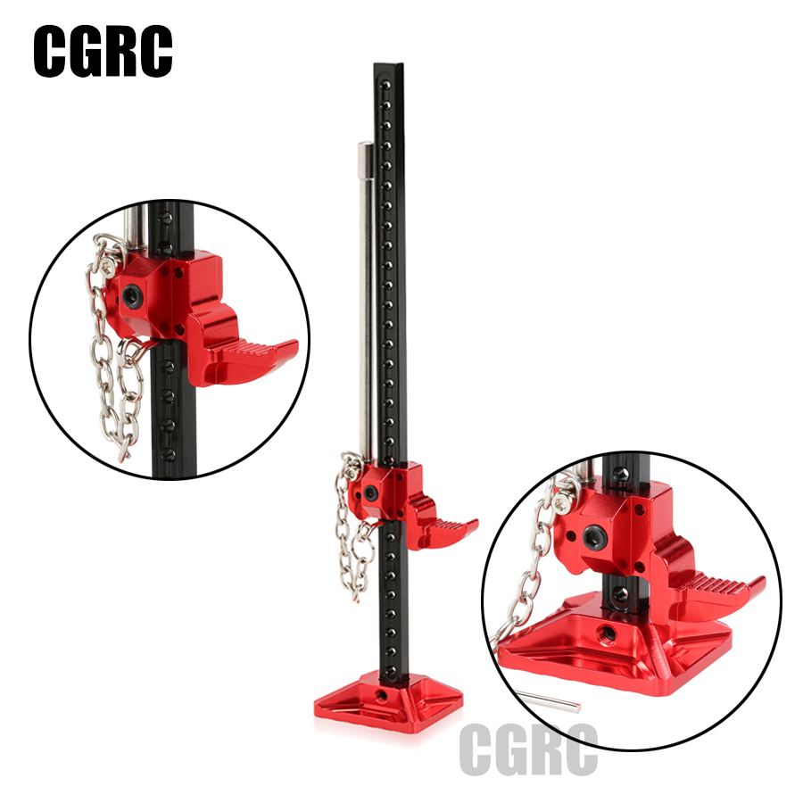 Durable RC Rock Crawler Slideable Metal Jack Tool for Axial SCX10 TAMIYA CC01 RC4WD D90 D110 TF2 1:10 Accessories injora 2pcs 90mm metal shock absorber for 1 10 rc crawler axial scx10 rc4wd d90 tamiya cc01