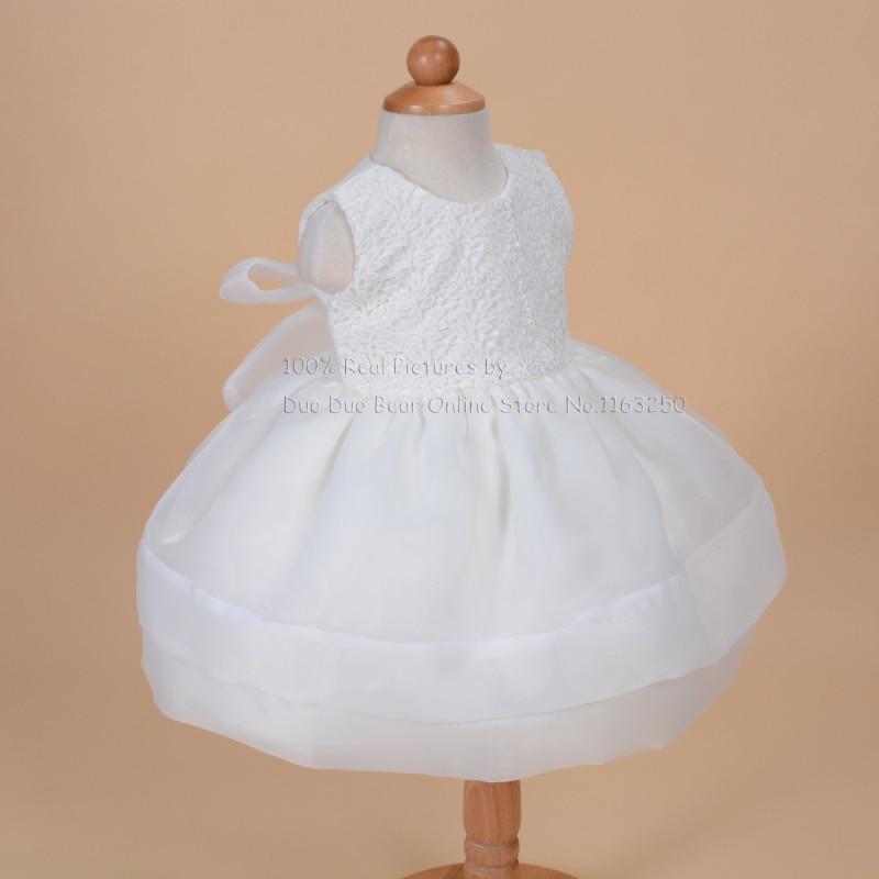 High Grade Newborn White Lace Baptism Gown Pink Baby Dress Princess ...