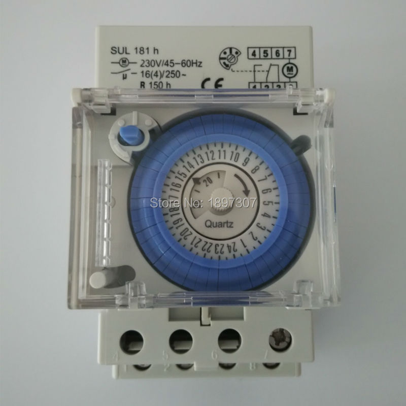Sul181h Analog Timer 16a Mechanische 24 Stunden Zeitschaltuhr Batterie Ce Zertifikat Klar Und Unverwechselbar