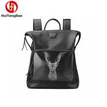 Backpack Bag Trend Deer Head Computer Bag Travel Leather Backpack Bookbag Laptop Bag backpack head backpack