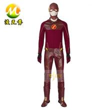 The Flash 1 Season Upgraded Version Cosplay Costume Barry Allen Suit The Flash Season 1 Barry Allen Costume Superhero Full Set