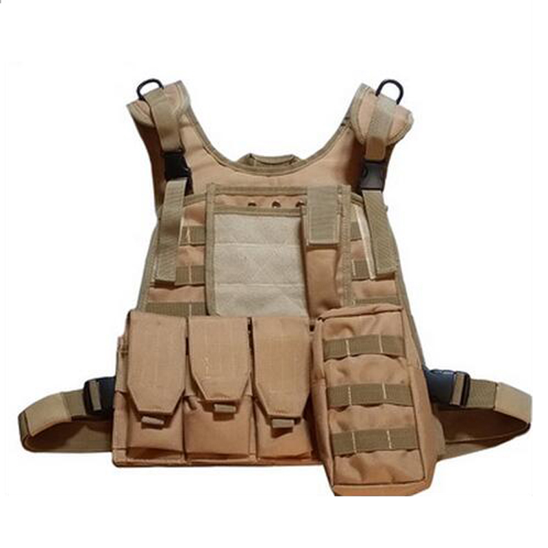 Outdoor Sport USMC Military Airsoft Molle Tactical Vest Molle Combat Assault Plate Carrier Vest Tactical Hunting Vest